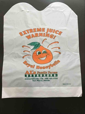 Plastic Bibs, two color imprint