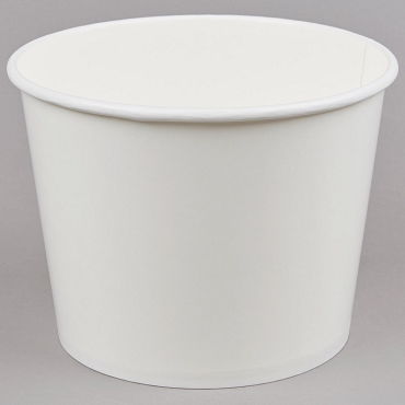 Table Scrap Buckets, Paper or Plastic, White - BLANK