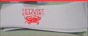 Lets Get Crackin Napkin Bands - pack of 25