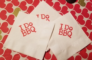 I DO BBQ Heart Cocktail Napkins - pack of 25