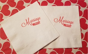 Marriage is Messy Cocktail Napkins - pack of 25