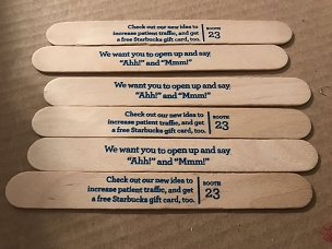 Wooden Jumbo Craft Sticks, printed - pack of 50