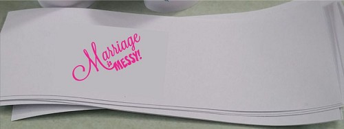 Marriage is Messy Design 2 Napkin Bands - pack of 25