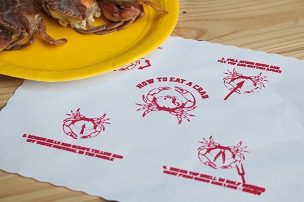 How to Eat a Crab Placemat - pack of 25