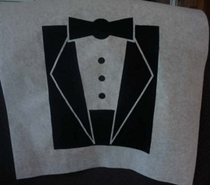 Tuxedo Stock Bibs, Poly Backed Paper with Ties