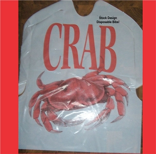 Plastic Crab Bibs with ties, 25 per pack