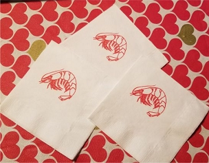 Shrimp Cocktail Napkins - pack of 25
