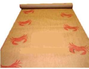 Crab Design Table Covering - Paper Banquet Roll, 100 or 300 foot