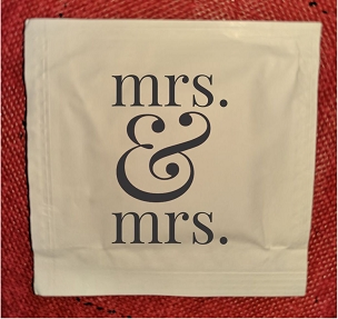 Mrs. & Mrs. Wet Wipe Packets, packs of 50