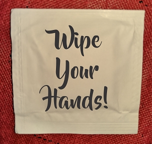 Wipe Your Hands Wet Wipe Packets, packs of 50